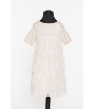 Rochie cu tull plisat