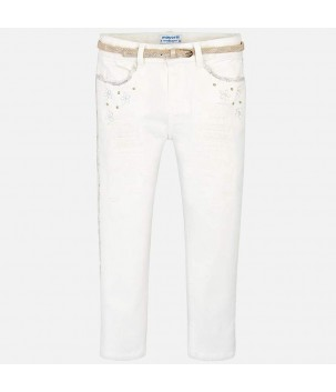 Pantaloni albi Mayoral