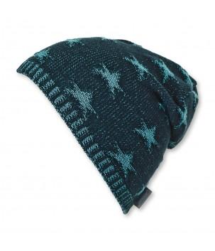 Caciula tricotata Bleumarin