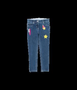 Jeans cu aplicatii
