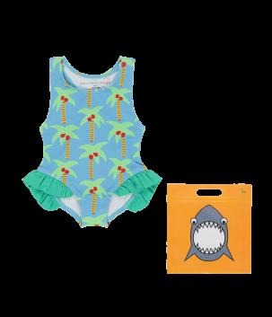 Costum de baie cu palmieri