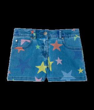 Pantaloni scurti denim cu stelute