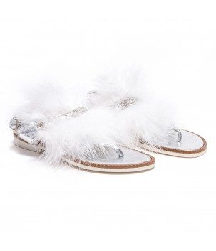 Sandale cu puf