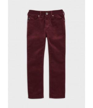 Pantaloni reiat bordo