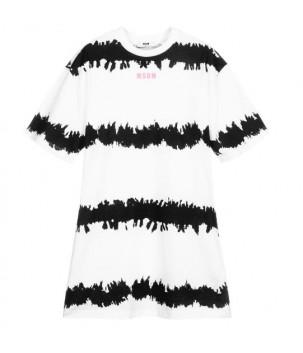 Rochie T-shirt Alb/Negru